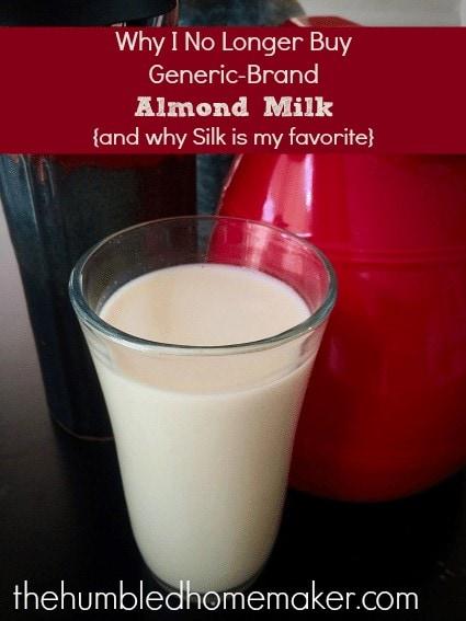why i no longer buy generic almond milk