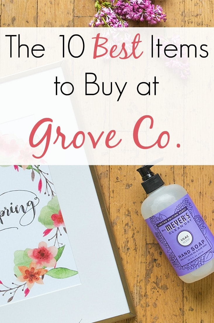 If you've been wondering what some of the best items are to buy at Grove Co., then wonder no longer! Here is my list of the top ten items I buy there every month!