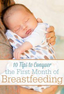 The first month of breastfeeding can really be the most difficult weeks of breastfeeding. But don't give up! Here are 10 tips to conquer early breastfeeding challenges! #5 is probably the most overlooked. #Breastfeeding #BreastfeedingTips #NewBabies