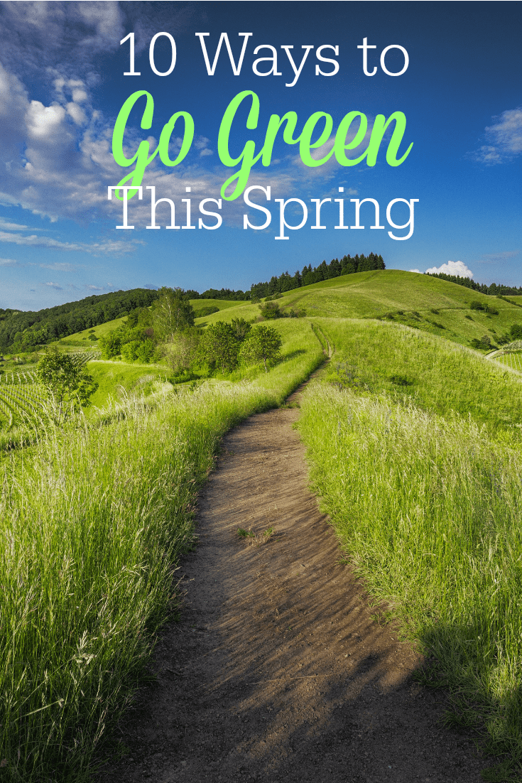 "Spring is the perfect time to ""go green"" and transition to a more natural lifestyle! Check out these 10 ways to help the planet, your health, and your budget!"