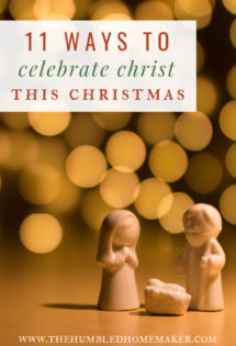 As followers of Jesus, keeping Christ as the center of my family's Christmas celebrations is key. Over the past couple years, I've been gathering ideas on how my family can truly celebrate Christ during the season.