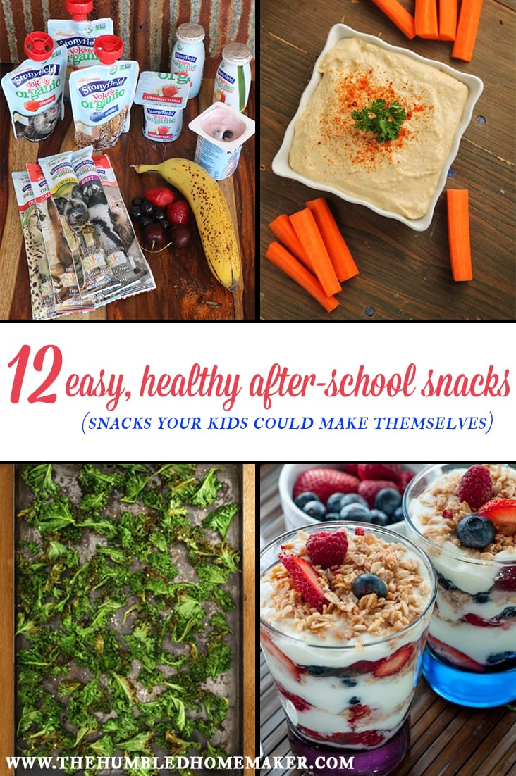 12 easy healthy after school snacks the humbled homemaker for Easy after school snacks for kids to make