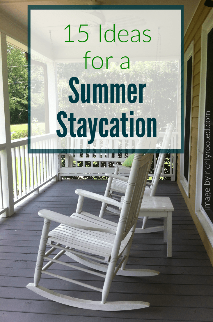 These ideas for a summer staycation look really fun...and super frugal! I want to do them all!