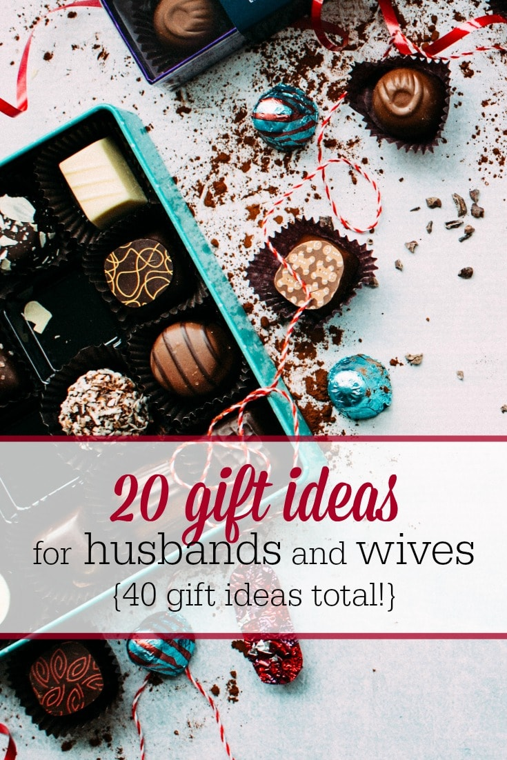 Find the perfect gift for your spouse with this list of gift ideas for husbands and wives!