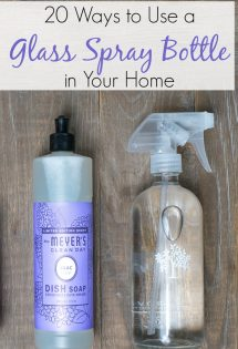 There are countless ways to use a glass spray bottle in your home. Here are 20 to get you started!