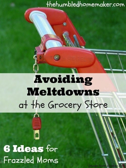 Avoiding Meltdowns at the Grocery Store - TheHumbledHomemaker.com
