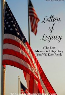 The Best Memorial Day Story You Will Ever Read - TheHumbledHomemaker.com