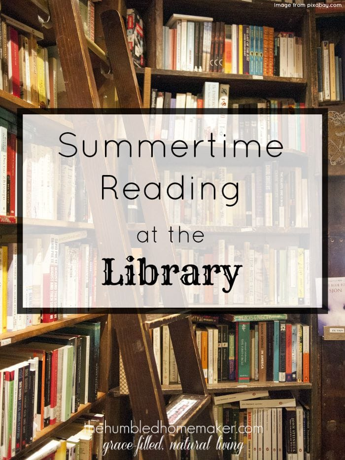 I loved going to the library for summer reading as a kid! I can still smell the pages of the books. That old, slightly musty library smell. Not exactly fragrant...but I loved it.