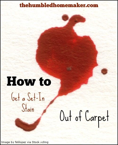 How to Get a Set-In Stain Out of Carpet - TheHumbledHomemaker.com