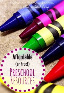 Parenting on a Penny: Affordable (or Free!) Preschool Resources