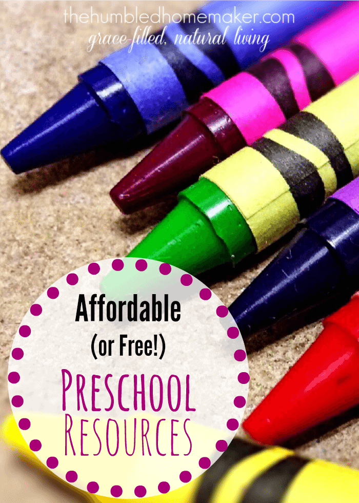You can homeschool for preschool...and it doesn't have to break the bank! Here's a list of free and affordable preschool resources!