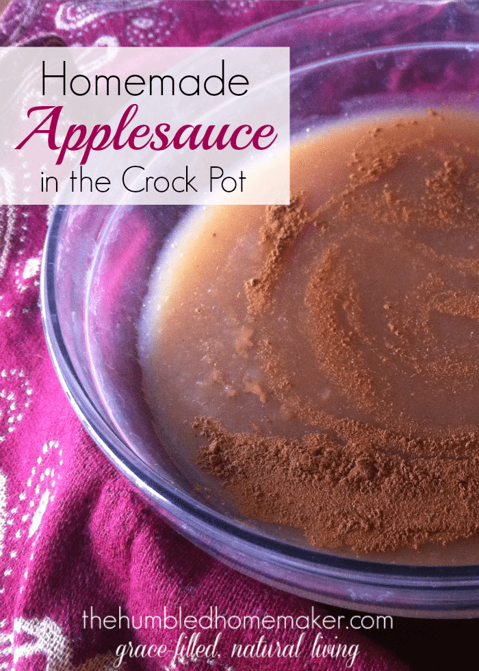 I couldn't believe how easy it is to make homemade applesauce! I made this applesauce in my crock pot, and it made the whole kitchen smell amazing!