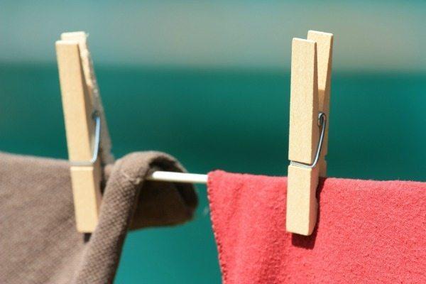 Laundry on clothesline