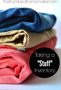Taking a Stuff Inventory - TheHumbledHomemaker.com
