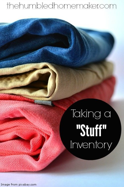 I'm hoping having an inventory of what I already have will help me make wiser decisions on what else to purchase--especially when it comes to my kids' clothes!