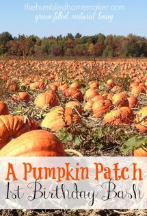 I love the idea of doing a pumpkin-themed birthday party! The kids would love picking out their pumpkin at the pumpkin patch as one of the activities!