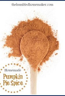 It's easy to make your own homemade pumpkin pie spice blend! This post includes a simple recipe to mix up your own pumpkin pie spice for fall cooking.
