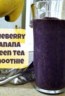 This post gives a delicious recipe for a blueberry-banana green tea smoothie that contains lots of wonderful antioxidants.