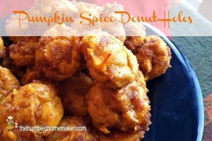 Pumpkin Spice Donut Holes at thehumbledhomemaker.com