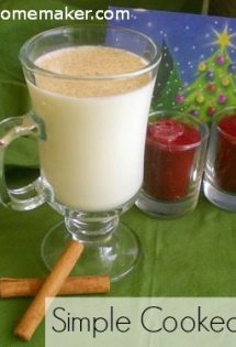 Simple Cooked Eggnog