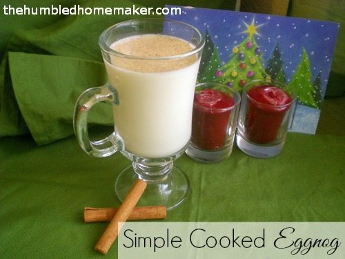 This homemade eggnog is cooked, so it's perfect for those who don't like consuming raw eggs! This is the perfect treat for a Christmas party--or even to sip on Christmas morning!