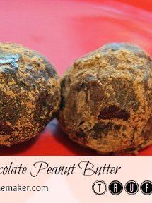 Super Easy Triple Chocolate Peanut Butter Truffles