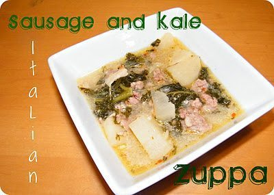 sausage and kale italian zuppa - TheHumbledHomemaker.com