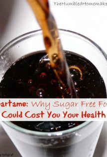 Aspartame: Why Sugar Free Foods Could Cost Your Health - TheHumbledHomemaker.com