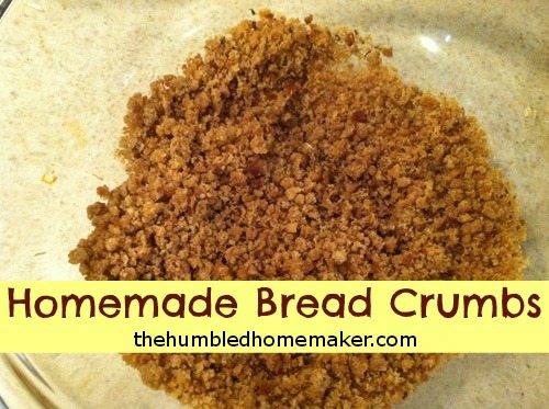 Homemade Bread Crumbs - TheHumbledHomemaker.com