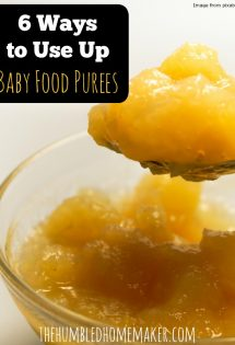 I don't want to waste my leftover baby food purees, so I'll be using these tips for sure!