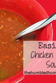 Easiest Chicken Tortilla Soup Ever