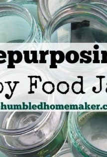 Repurposing Baby Food Jars - TheHumbledHomemaker.com