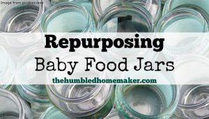 Repurposing Baby Food Jars - TheHumbledHomemaker.com