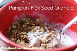 Homemade Pumpkin-Flax Seed Granola