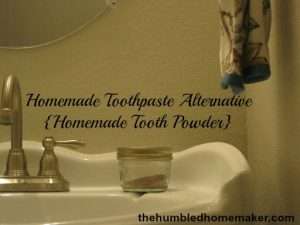 Fast and Easy Homemade Toothpaste Alternative