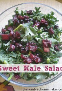 Sweet Kale Salad - TheHumbledHomemaker.com