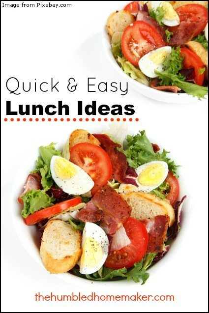 Quick and Easy Lunch Ideas - TheHumbledHomemaker.com