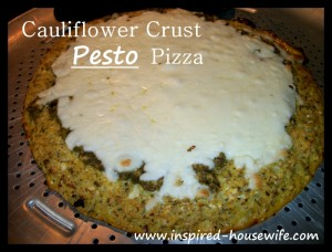 Cauliflower Crust Pesto Pizza