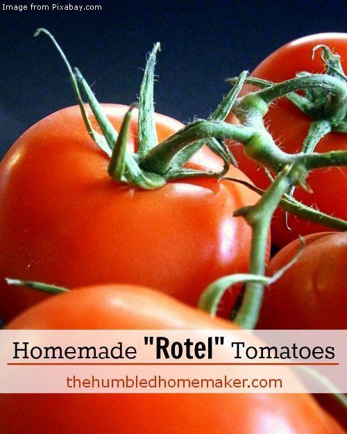 Homemade Rotel Tomatoes - TheHumbledHomemaker.com
