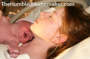 My Natural Hospital Birth, part 1 {my second baby's birth story}