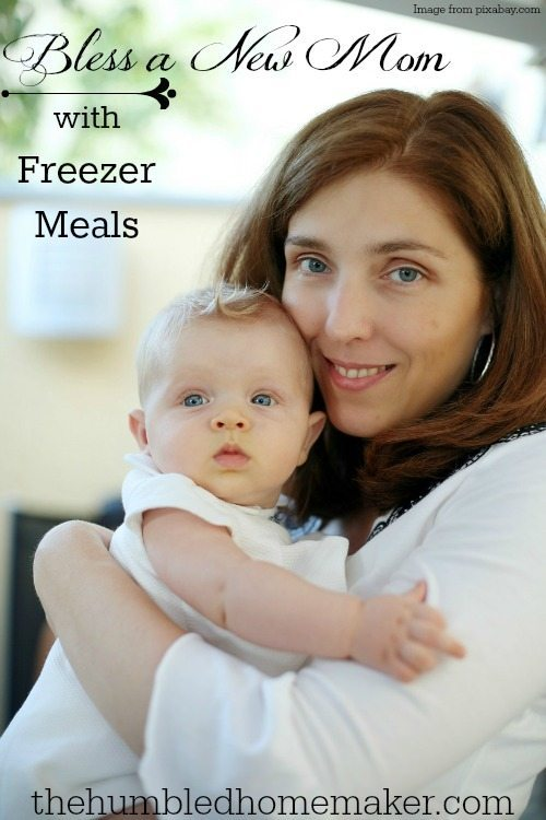 Freezer meals are my favorite way to bless a new mom!