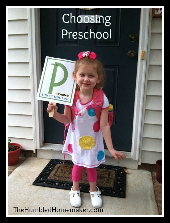 Torn about whether or not to send your child to preschool? I love these thoughts on choosing preschool!