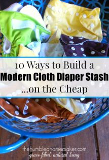 10 Ways to Build a Modern Cloth Diaper Stash–on the Cheap