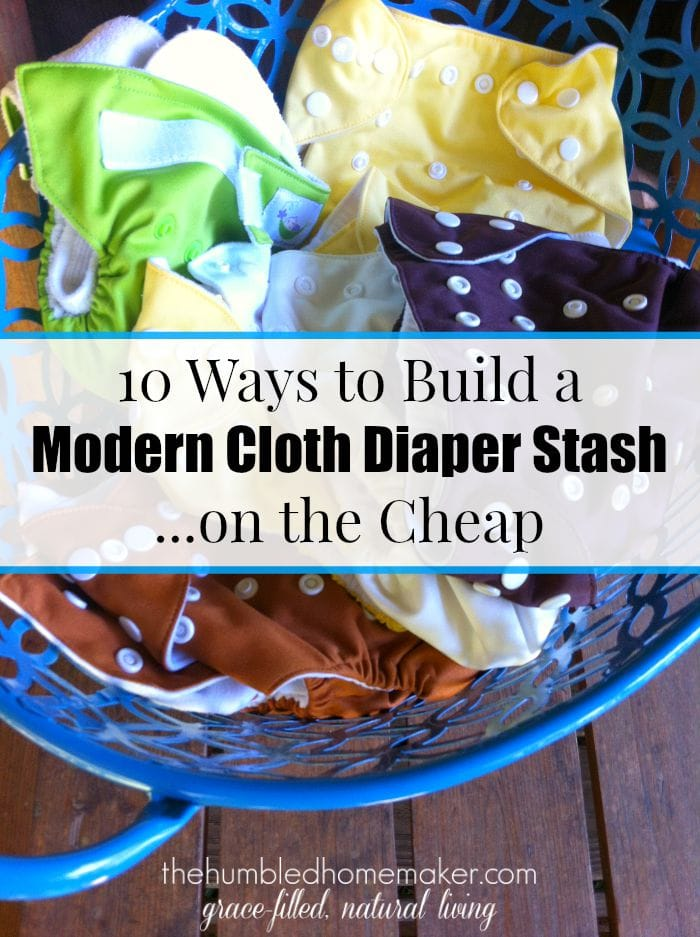 So how can you build a stash without breaking the bank? Well, there are several ways. And through it all, keep in mind that once your stash is built and you are using cloth diapers full or even part-time, they WILL save you money.