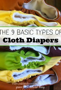 Once you've decided to take the plunge and use cloth diapers, the next thing to decide is what type of cloth diapers you will use. This post is a GREAT overview of the 9 different types of cloth diapers.