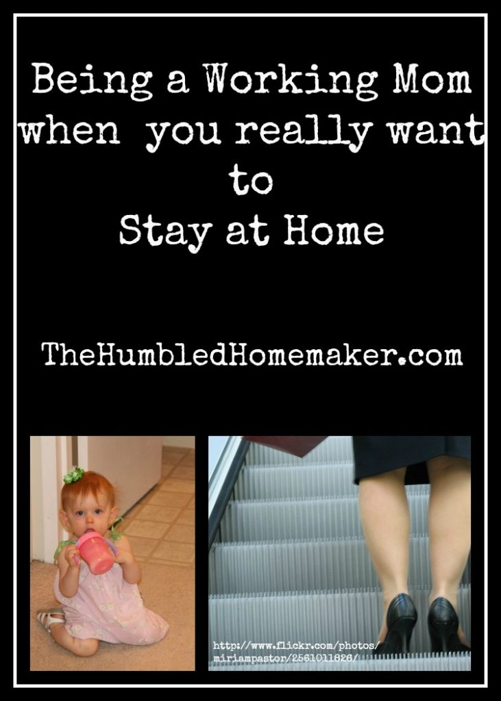 It's hard being a working mom when you really want to stay at home. Such great encouragement for all you working moms out there!