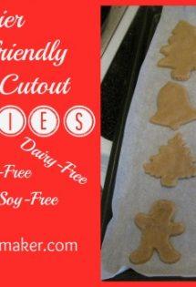 Healthier Allergy-Friendly Christmas Cutout Cookies