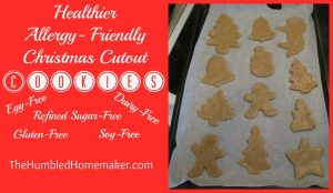Healthier Allergy-Friendly Christmas Cutout Cookies