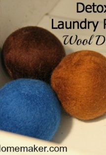 Detox Your Laundry Room with Wool Dryer Balls