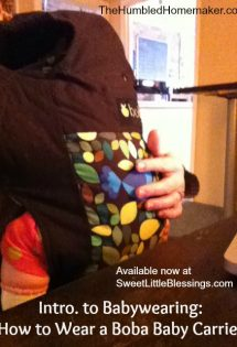 Intro to Babywearing: How to Wear a Boba Classic Baby Carrier {with a vlog!}